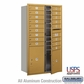 Salsbury 3715D-17GFU 4C Mailboxes 17 Tenant Doors Front Loading
