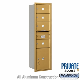 Salsbury 3715S-04GRP 4C Mailboxes 4 Tenant Doors Rear Loading