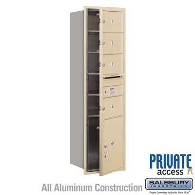 Salsbury 3715S-04SFP 4C Mailboxes 4 Tenant Doors Front Loading