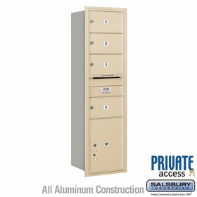 Salsbury 3715S-04SRP 4C Mailboxes 4 Tenant Doors Rear Loading