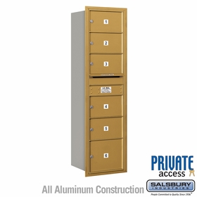 Salsbury 3715S-06GRP 4C Mailboxes 6 Tenant Doors Rear Loading