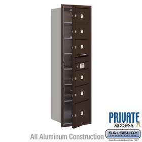 Salsbury 3715S-06ZFP 4C Mailboxes 6 Tenant Doors Front Loading