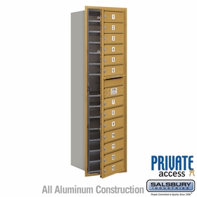 Salsbury 3715S-13GFP 4C Mailboxes 13 Tenant Doors Front Loading