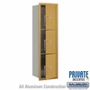 Salsbury 3715S-3PGFP 4C Mailboxes 3 Parcel Lockers Front Loading