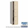 Salsbury 3715S-3PSFP 4C Mailboxes 3 Parcel Lockers Front Loading