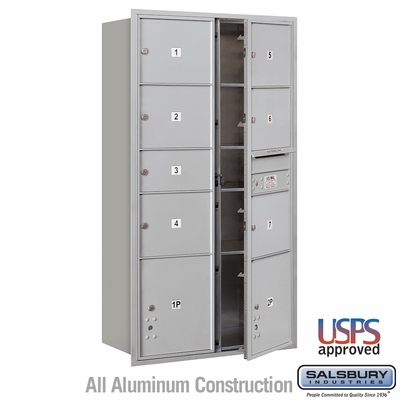 Salsbury 3716D-07AFU 4C Mailboxes 7 Tenant Doors Front Loading