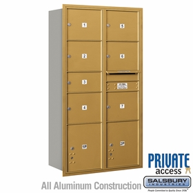 Salsbury 3716D-07GRP 4C Mailboxes 7 Tenant Doors Rear Loading