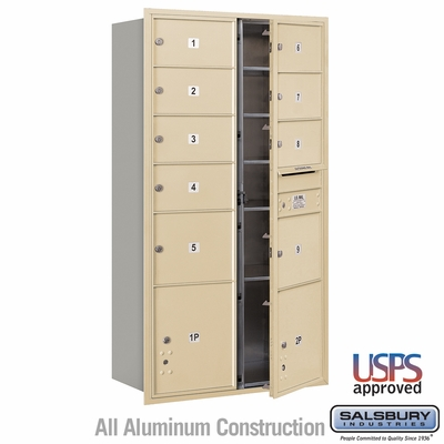 Salsbury 3716D-09SFU 4C Mailboxes 9 Tenant Doors Front Loading