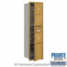 Salsbury 3716S-03GFP 4C Mailboxes 3 Tenant Doors Front Loading
