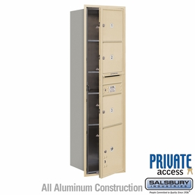 Salsbury 3716S-03SFP 4C Mailboxes 3 Tenant Doors Front Loading
