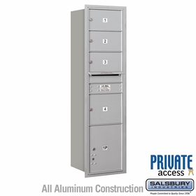 Salsbury 3716S-04ARP 4C Mailboxes 4 Tenant Doors Rear Loading