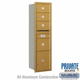 Salsbury 3716S-04GRP 4C Mailboxes 4 Tenant Doors Rear Loading