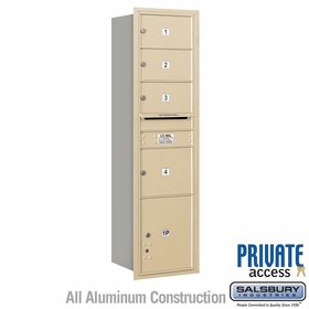 Salsbury 3716S-04SRP 4C Mailboxes 4 Tenant Doors Rear Loading