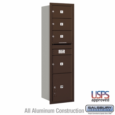 Salsbury 3716S-04ZRU 4C Mailboxes 4 Tenant Doors Rear Loading