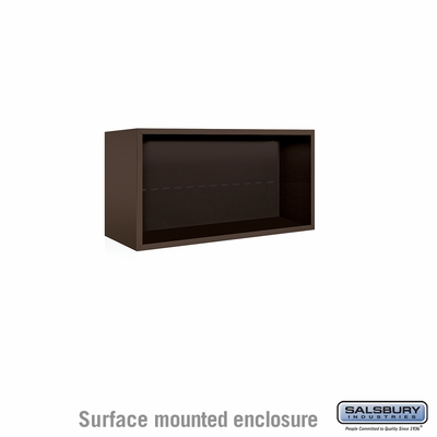 Salsbury 3804D-BRZ Surface Mounted Enclosure - for 3704 Double Column Unit - Bronze