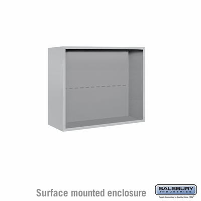 Salsbury 3806D-ALM Surface Mounted Enclosure - for 3706 Double Column Unit - Aluminum