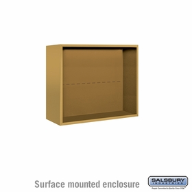 Salsbury 3806D-GLD Surface Mounted Enclosure - for 3706 Double Column Unit - Gold