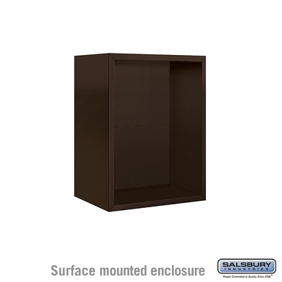 Salsbury 3806S-BRZ Surface Mounted Enclosure - for 3706 Single Column Unit - Bronze