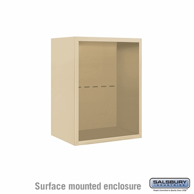 Salsbury 3806S-SAN Surface Mounted Enclosure - for 3706 Single Column Unit - Sandstone