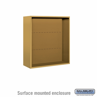 Salsbury 3808D-GLD Surface Mounted Enclosure - for 3708 Double Column Unit - Gold