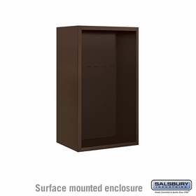 Salsbury 3808S-BRZ Surface Mounted Enclosure - for 3708 Single Column Unit - Bronze