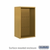 Salsbury 3808S-GLD Surface Mounted Enclosure - for 3708 Single Column Unit - Gold
