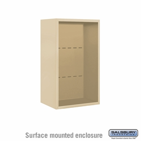 Salsbury 3808S-SAN Surface Mounted Enclosure - for 3708 Single Column Unit - Sandstone