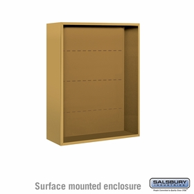 Salsbury 3810D-GLD Surface Mounted Enclosure - for 3710 Double Column Unit - Gold