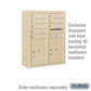 Salsbury 3810D-SAN Surface Mounted Enclosure - for 3710 Double Column Unit - Sandstone