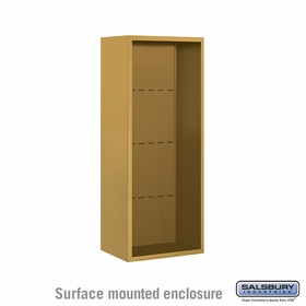 Salsbury 3810S-GLD Surface Mounted Enclosure - for 3710 Single Column Unit - Gold