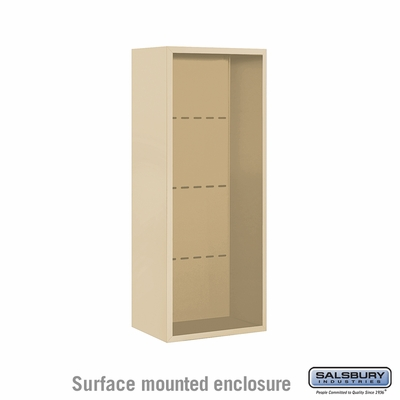 Salsbury 3810S-SAN Surface Mounted Enclosure - for 3710 Single Column Unit - Sandstone