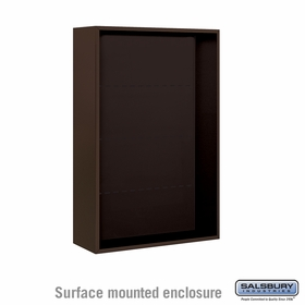 Salsbury 3812D-BRZ Surface Mounted Enclosure - for 3712 Double Column Unit - Bronze
