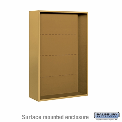 Salsbury 3812D-GLD Surface Mounted Enclosure - for 3712 Double Column Unit - Gold