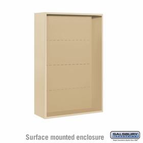 Salsbury 3812D-SAN Surface Mounted Enclosure - for 3712 Double Column Unit - Sandstone