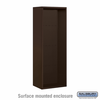 Salsbury 3812S-BRZ Surface Mounted Enclosure - for 3712 Single Column Unit - Bronze