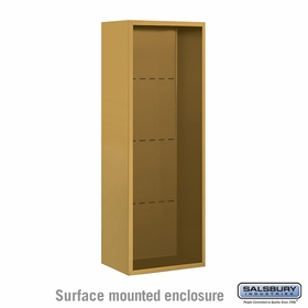 Salsbury 3812S-GLD Surface Mounted Enclosure - for 3712 Single Column Unit - Gold