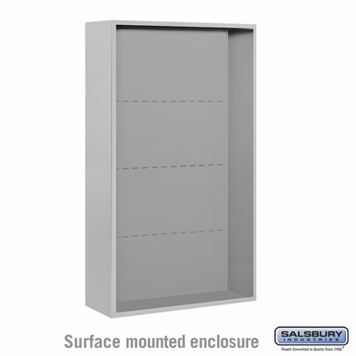 Salsbury 3814D-ALM Surface Mounted Enclosure - for 3714 Double Column Unit - Aluminum