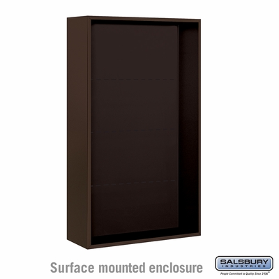 Salsbury 3814D-BRZ Surface Mounted Enclosure - for 3714 Double Column Unit - Bronze