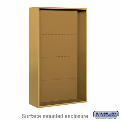Salsbury 3814D-GLD Surface Mounted Enclosure - for 3714 Double Column Unit - Gold