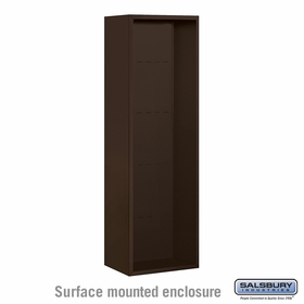 Salsbury 3814S-BRZ Surface Mounted Enclosure - for 3714 Single Column Unit - Bronze