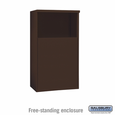 Salsbury 3904D-BRZ Free-Standing Enclosure - for 3704 Double Column Unit - Bronze