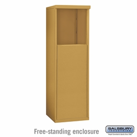 Salsbury 3904S-GLD Free-Standing Enclosure - for 3704 Single Column Unit - Gold
