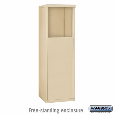 Salsbury 3904S-SAN Free-Standing Enclosure - for 3704 Single Column Unit - Sandstone