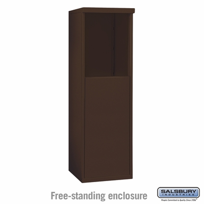 Salsbury 3905S-BRZ Free-Standing Enclosure - for 3705 Single Column Unit - Bronze