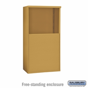 Salsbury 3906D-GLD Free-Standing Enclosure - for 3706 Double Column Unit - Gold