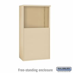 Salsbury 3906D-SAN Free-Standing Enclosure - for 3706 Double Column Unit - Sandstone