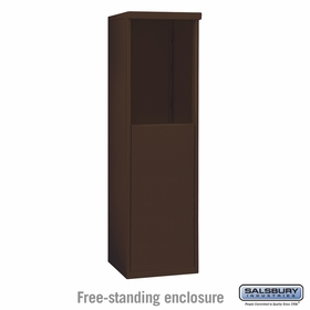 Salsbury 3906S-BRZ Free-Standing Enclosure - for 3706 Single Column Unit - Bronze