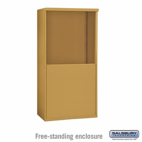 Salsbury 3908D-GLD Free-Standing Enclosure - for 3708 Double Column Unit - Gold