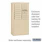 Salsbury 3908D-SAN Free-Standing Enclosure - for 3708 Double Column Unit - Sandstone