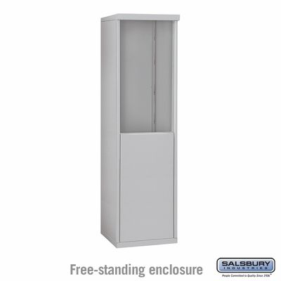 Salsbury 3908S-ALM Free-Standing Enclosure - for 3708 Single Column Unit - Aluminum